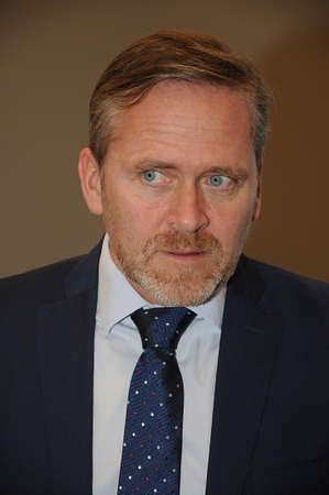 foreign affairs: Copenhagen  Denmark_  08 February  2017 - Anders Samuelsen danish new minister for foreign affairs talks to national media at christiansborg palace.