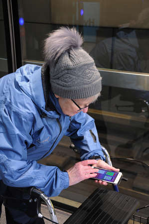 Copenhagen  Denmark_  02 March 2017 -Danish eldlery woman walks 100 kilometers with Pokemon go.