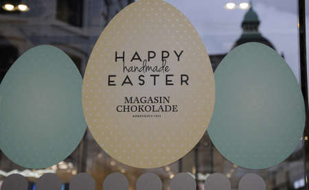 weber: Copenhagen_Denmark _12.April 2017_ Easter sale and Happy easter  and tea taste  too in Magasin du nord and Gerery Weber billboard amd happy easter and closing for Easter holiday from thursday  long friday and easter sumday and easter monday at Magasi du N