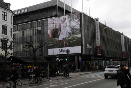 weber: Copenhagen_Denmark _12.April 2017_ Gerery Weber billboard amd happy easter and closing for Easter holiday from thursday  long friday and easter sumday and easter monday at Magasi du Nord department store .
