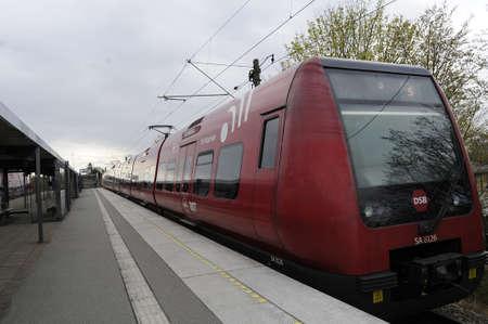 Vaerlose/Copenhagen_Denmark _17 April 2017_DBS rgional train in Vaerlose.