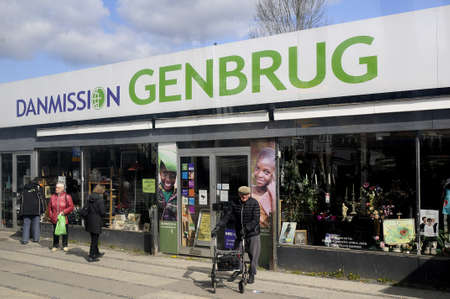third world economy: Copenhagen_Denmark _19.April 2017_ Danmissions 2nd hand store  to help third world poverty. Editorial