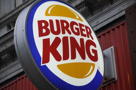 Copenhagen_Denmark _10 May 2017_ Burger king fst food restaurant in vesterbrogade .