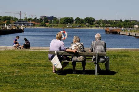Copenhagen Denmark - 27. May 2017.   Senior life or retired people way life in Denmark