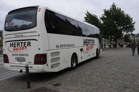 reisen: Copenhagen Denmark - 02 June 2017-German .t ourists from Herter Reisen  visitin in Copenhagen .