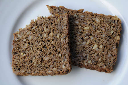 finanse: kastrupCopenhagen Denmark - 07June  2017.   Danish rugbrod (rugbr?d)in oter word danish brown bread  this most is eaten with smorbrod  and or open sandwich .