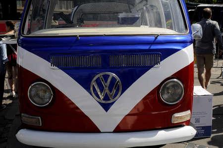 Copenhagen Denmark - 17.June 2017.  German classic volks wagen van been used and vandor van .