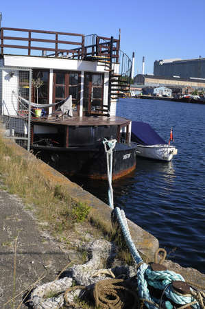 Copenhagen Denmark - 09.jULY  2017. This is resident boat in other word house boat people make use of boat as thier home..