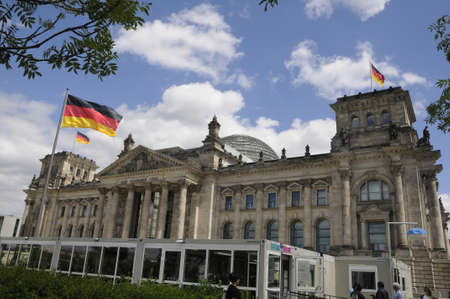 BERLINGERMANY 04 July  2017. Reichtag building Germnys old parliament building .
