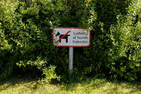 Pet is not allowed  in garden .