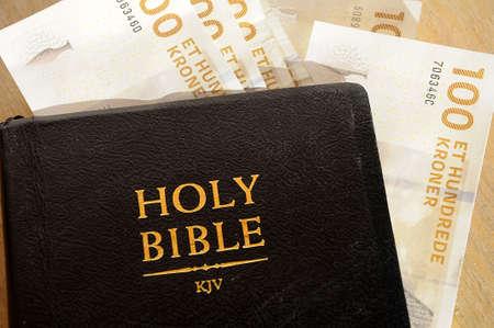 nad: KastrupCopenhagen  Denmark, 07 October 2016 _ Christian faith  Holy bible and money
