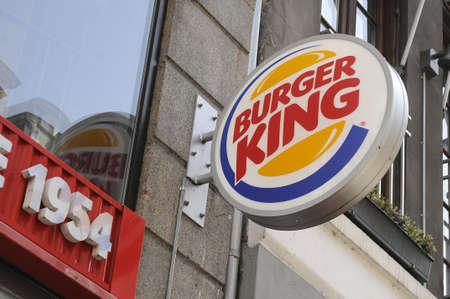 Copenhagen Denmark - 07 August. 2017. American food chain restaurant Burger king .