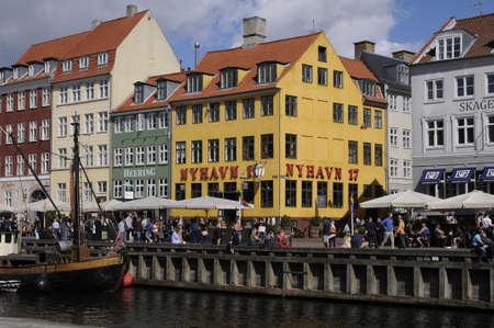 Copenhagen Denmark - 19.August. 2017. German and other tourists in danish captila Copenhagen Denmark.