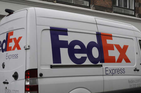 Copenhagen Denmark - 04.September. 2017. FedEx delivery van .