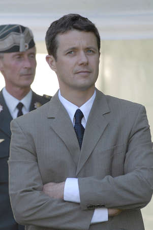 HRH Crown Princes Frederik show The Cabinetmakers Autumn Exibition at open air at Frederikberg Garden Copenhagen Denmark ,Crown Princes Frederik is also Patrogae of the assocaition, June 2,2006
