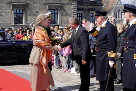 dean Pictures: HM the Queen Margrethe II and husband prince Hnerik official on board Royal ship Danneborg as usual each year and royal couple will sail from Copenhagen to Hillingoer city and have lunch on ship today Friday April 28,2006 Copenhagen Denmark Editorial