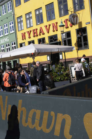 private security: Copenhagen Denmark - 10.September. 2017.   Tourists life o sunday the september  at Nyhavn canal though for security reason Nyhavn been blocked fro private transportations. Editorial