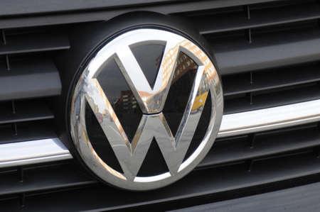 Copenhagen Denmark - 13 .September. 2017.   German Volks Wagen VW vehcile logo