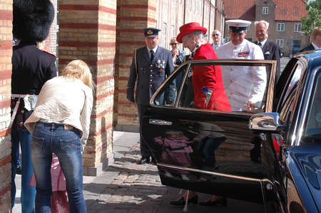 dean Pictures: H.M.the Queen Margrethe was operated her legs and now she uses Crutches when she walk today was hr first public appearance to give Queen Watch to Roayl quard Kaer Vodder Nielsen from Vibe Denmark, Copenhagen DENMARK june 23,2006 Editorial