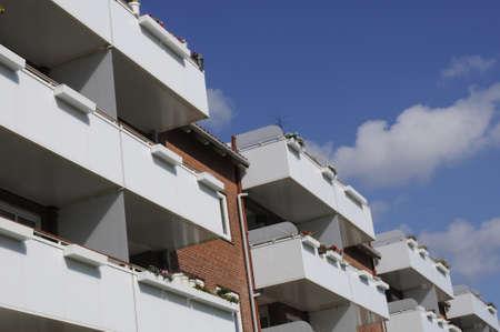 Copenhagen Denmark - 10 .September. 2017.  Danish arhitect blaconies  in apartments