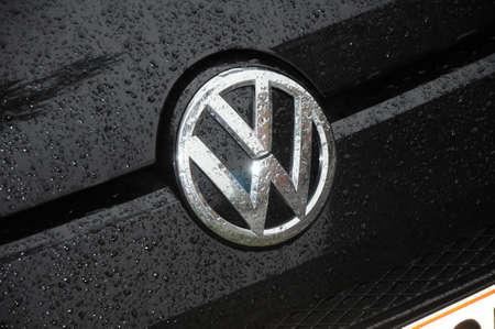 Copenhagen Denmark - 21.October  2017.    Volkswagen german auto logo.
