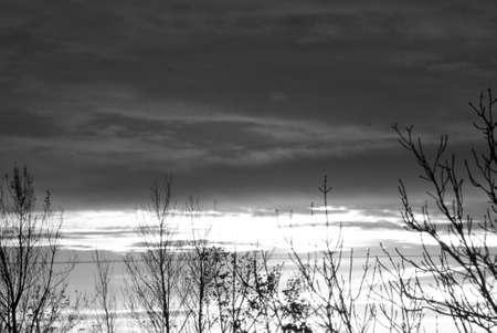 카스트 러프  코펜하겐  덴마크 -31입니다 .2010 년 10 월입니다. 카스트 러프에서 일몰 풍경입니다.