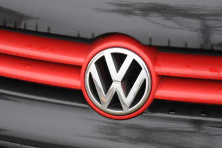 Copenhagen Denmark - 08 November  2017.    German VW auto volks wage auto logo. Editorial