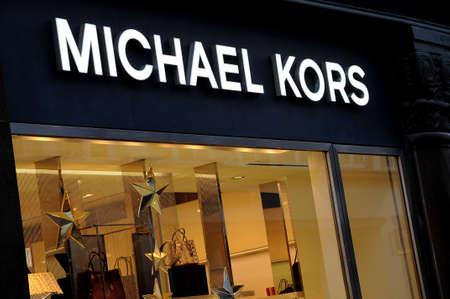 Copenhagen Denmark - 11.November  2017.   Michael Kors luxury store on stroget in danish capital.