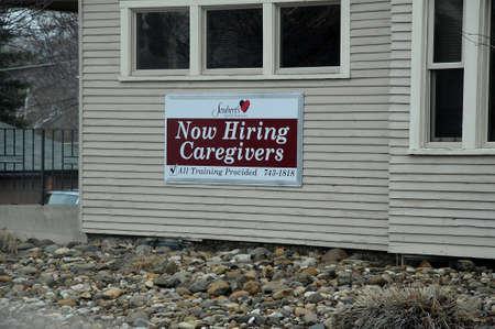 LEWISTONIDAHOUSA 18 December  2017.  Now hiring cargivers . Editorial