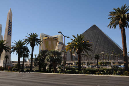 LAS VEGAS  NEVADAUSA 15 December  2017. Luxor casino egypt style in Las Vegas in Nevada USA.