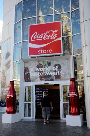 LAS VEGAS  NEVADAUSA 15 December  2017.  Coca cola store on Las Vegas BLVD in Las Vegas .