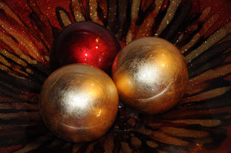 Ornaments crystal in crystal bowl .