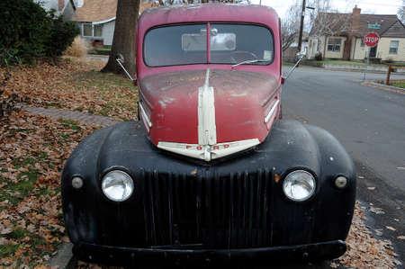 LEWISTONIDAHOUSA 20 December  2017.   Old classic pickup in ruler America.
