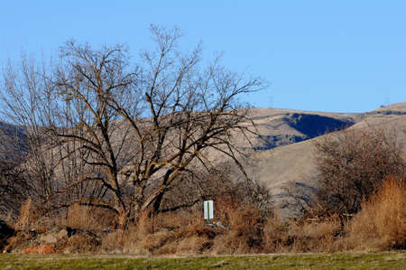 LEWISTON/IDAHO/USA 30..December  2017. Lewiston hills view from valley Фото со стока - 92787900