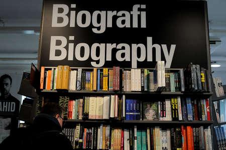 Copenhagen Denmark - 04. February.2018_ .  Biography books at book store. Editorial