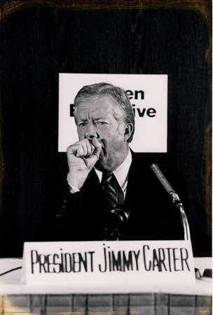 Copenhagen  Denmark, 10 May 1982-President Jummy Carter visite Denmark and holds press conference.