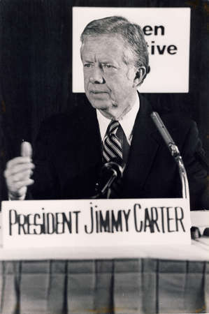 Copenhagen  Denmark, 10 May 1982-President Jummy Carter visite Denmark and holds press conference.       . Editorial