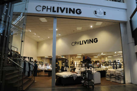 CPHLIVING Copenhagen living bedding store in danish              danish capital Copenhagen Denmark 15..March.2018_ .