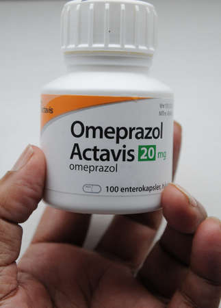 Copenhagen/Denmark 23..March.2018_ Omeprazol actavis 20.mg 100 tables Editorial