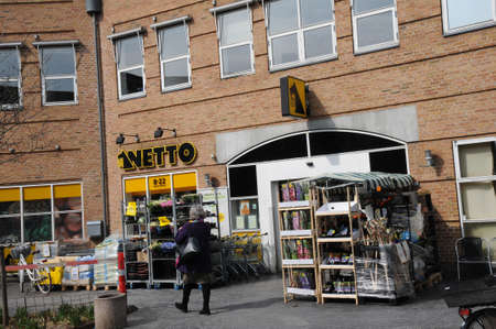 Copenhagen/Denmark 10. April 2018Netto grocery store in Kastrup Copenhagen , Denmark_ . Editorial