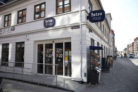 CopenhagenDenmark 11. April 2018_ Fotex food store in Copenhagen Denmark, from 2 am till 10 pm opening hours..