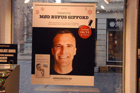 CopenhagenDenmark 10.November 2018.  _Former united states ambassador to Denmark Rufus Gifford his book will come out next week  Trumps America in Denmrk and he sill sign book here in Copenhagen Denmark.