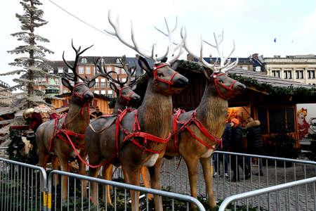CopenhagenDenmark 20.November 2018.  Christms decorations and season and christmas markets in various place in danish capital Copenhagen Denmark.