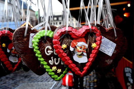 CopenhagenDenmark 20.November 2018.  God Jule  in english Merery Christms  and christmas greetins and decorations and season and christmas markets in various place in danish capital Copenhagen Denmark.