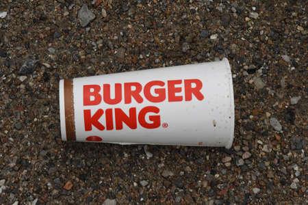 CopenhagenDenmark 14 December 2018.   American foast food chain burger king swaste in Copenhagen Denmark.