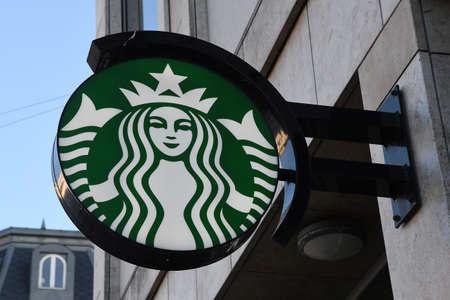 CopenhagenDenmark. 02January 2019._ Seattle chain starbucks coffee in danish capital Copenhagen Denmark.