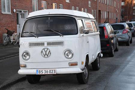 CopenhagenDenmark. 05January 2019._ Classic German VW Volks Wgaen van in danish capital Copenhagen Denmark.