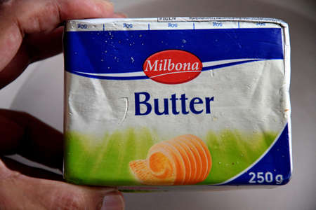Copenhagen/Denmark. 05January 2019._  Milbona butter been sold in danish capital Copenhagen Denmark,