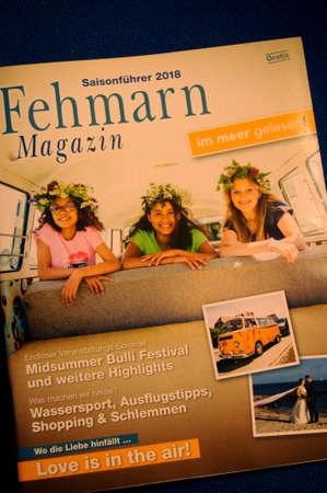 CopenhagenDenmark. 11.January 2019._ Seasonfuhre2018 Fehmarn Magasine touism magasine  in Copenhagen Denmark.
