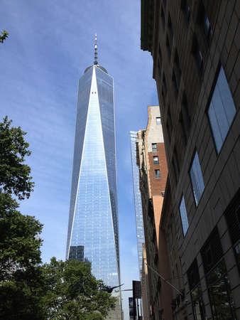 New York City.New York State  USA - 08 June 2018_ New world trade center in New York ity new york  states in USA . 에디토리얼